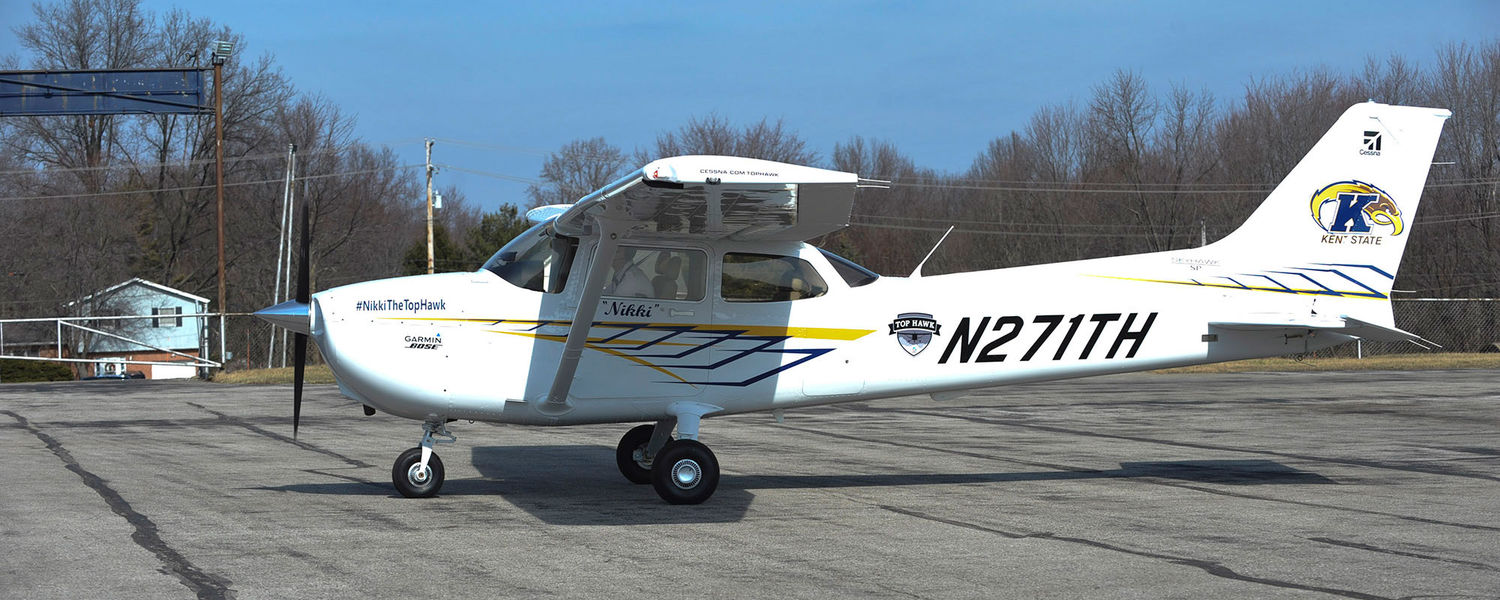 Kent State was named a 2016 Top Hawk university and received a Cessna Skyhawk 172 to use for one year.