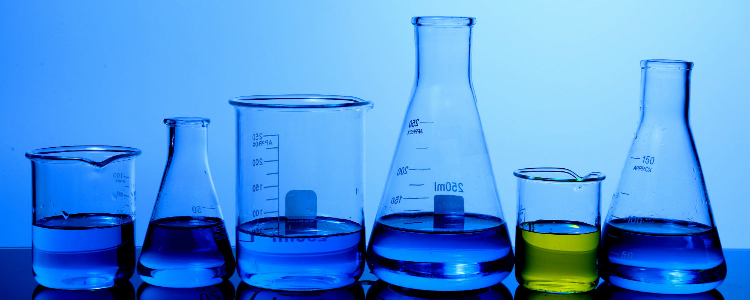 Various beakers and chemistry labware