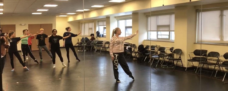 Choreography Club Practicing