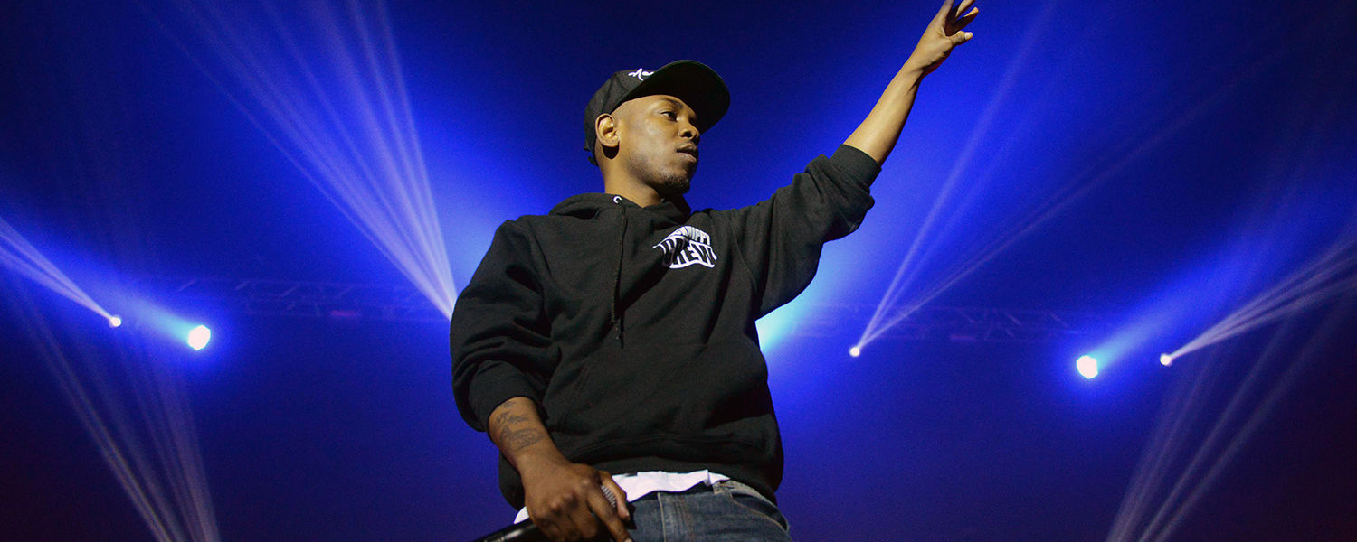 Kendrick Lamar performs in Kent State's Memorial Athletic and Convocation Center as part of FlashFest2013, an annual event for Kent State students.