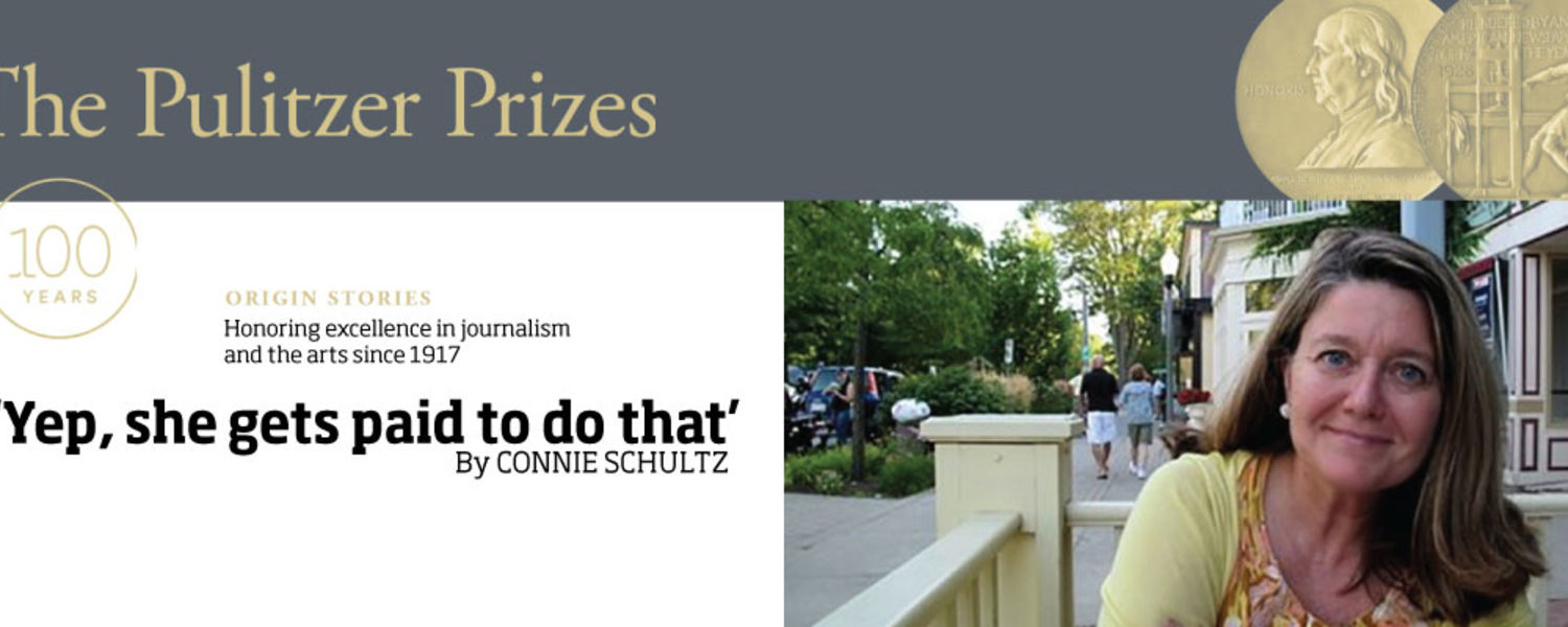 Connie Schultz is a Pulitzer Prize winning journalism who reach in the School of Journalism and Mass Communication at Kent State University.