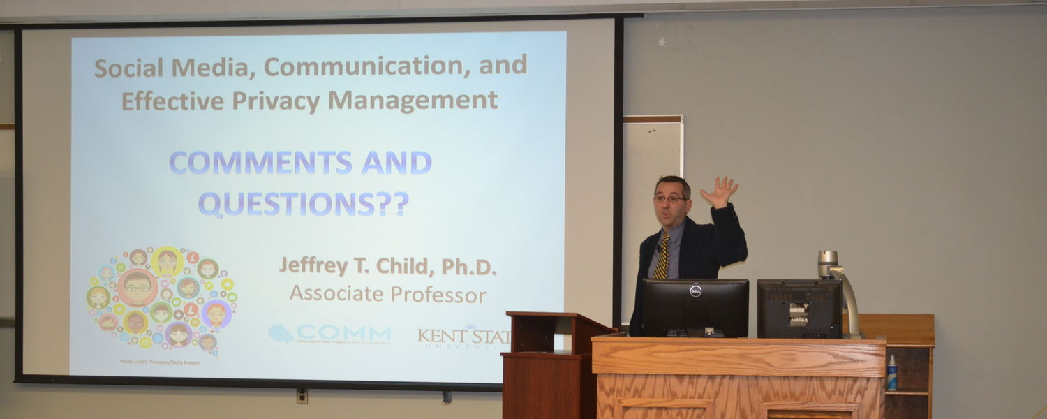 image of Jeff Child presenting research