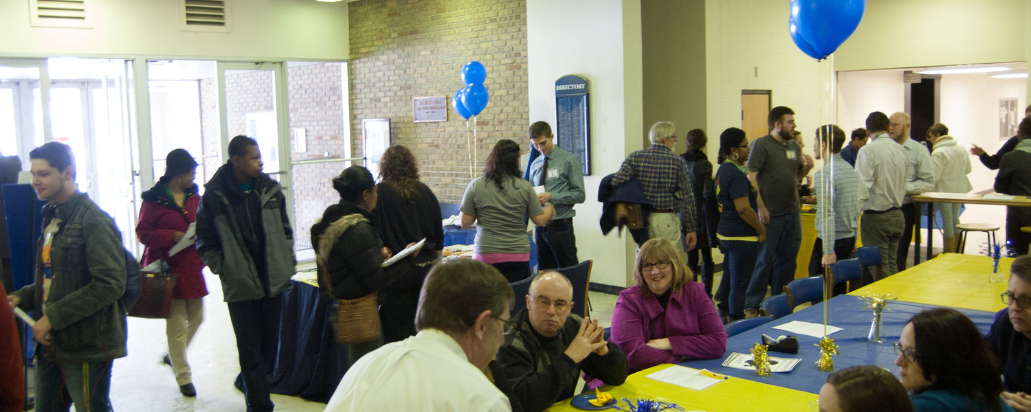Prospective students and their families attend Explore Kent Chemistry Day