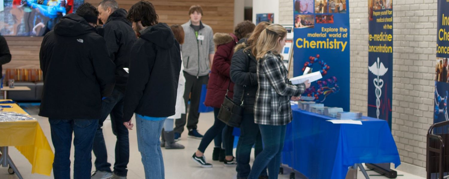 Guests arrive at Explore Kent Chemistry Day