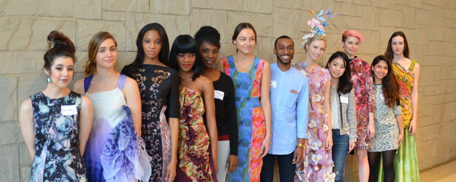 Students and models at the 2016 Fashion Meets the Botanicals, held at the Cleveland Botanical Garden.