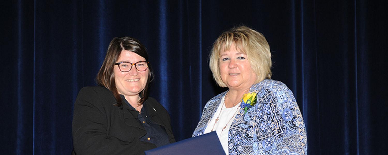Darlene Contrucci with Dr. Mandy Munro-Stasiuk