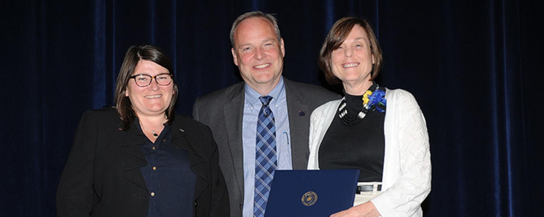 Joan Lannoch with Dr. Mandy Munro-Stasiuk & David Dixon