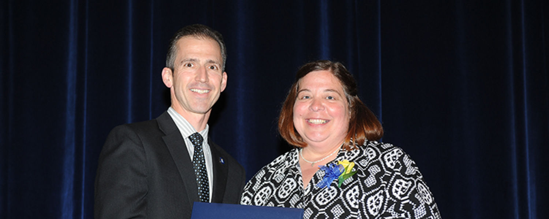Janell Ryan with Dr. Mark Polatajko