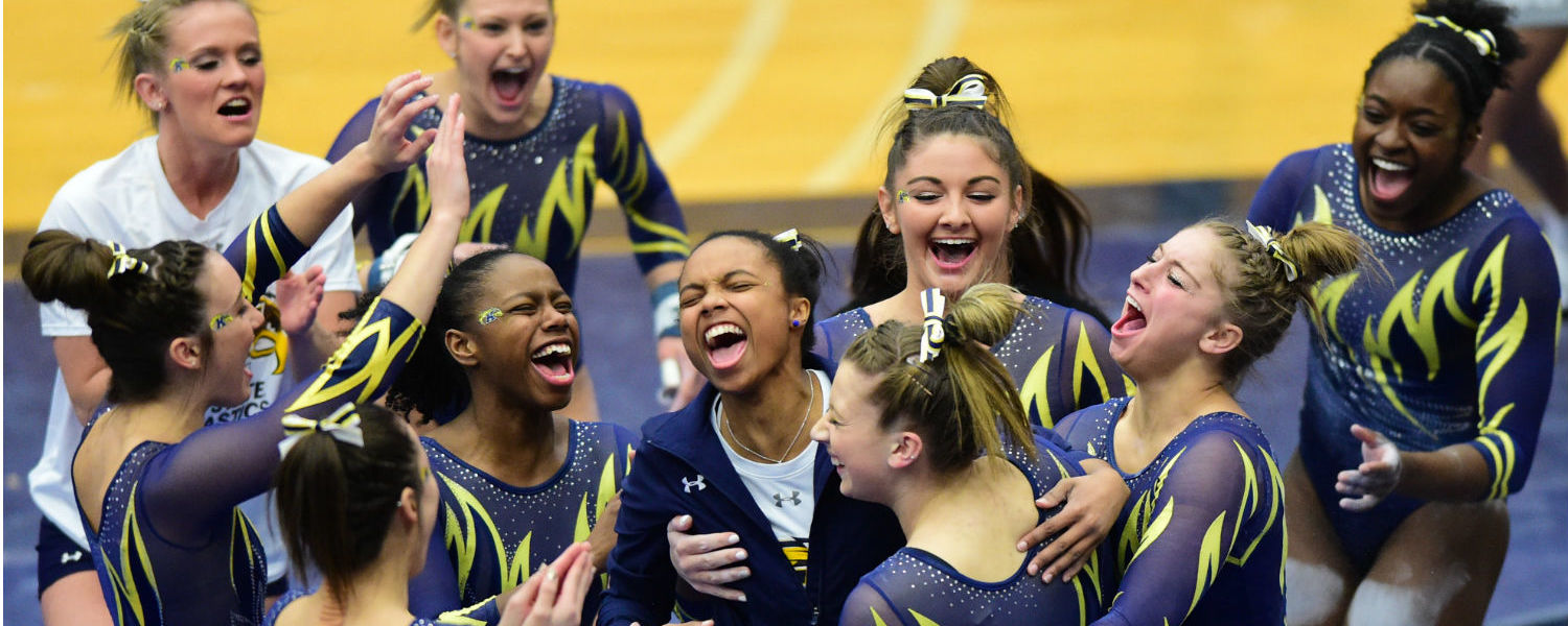 Kent State's gymnastics team went a perfect 6-0 in MAC competition.