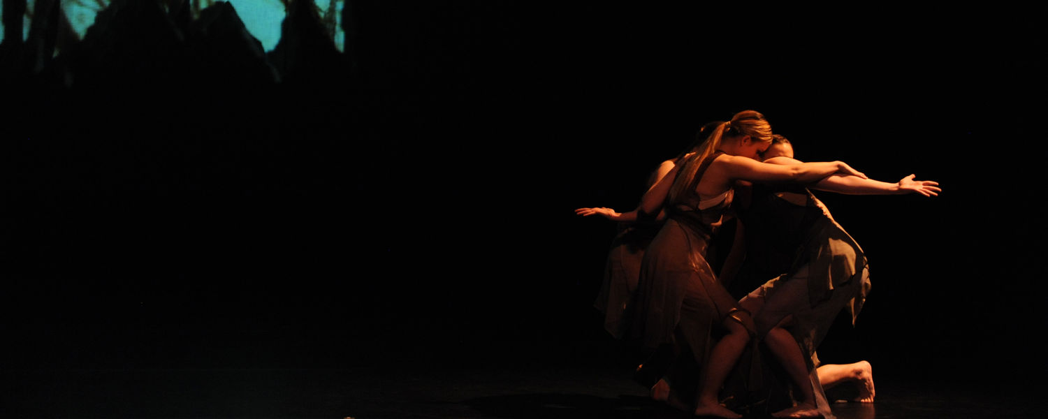 Dance students perform in the fall 2014 dance concert.