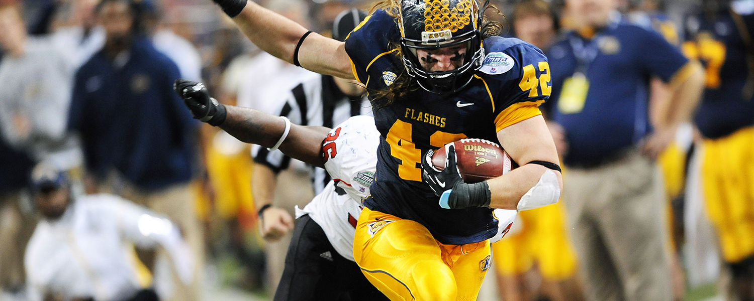 Kent State's Dri Archer runs for a 15-yard touchdown during the first half of Kent State's appearance in the MAC Championship game in Detroit. Kent State's Dri Archer runs for a 15-yard touchdown during the first half of Kent State's appearance in the MAC