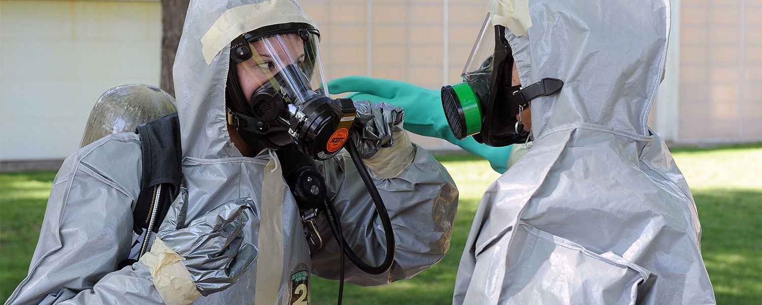 Kent State public health students participate in a disaster preparedness exercise on campus as part of their training.
