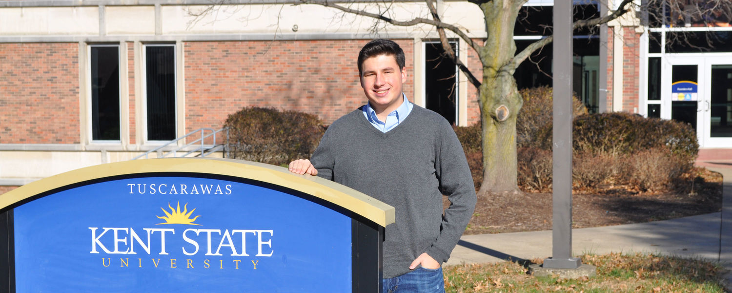 Kent State University at Tuscarawas student and Councilman-At-Large Eric Harmon, 19.