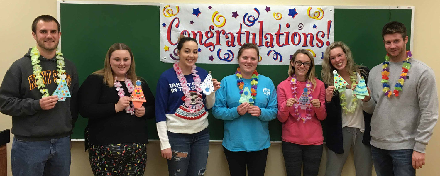 Student teachers and their origami trees