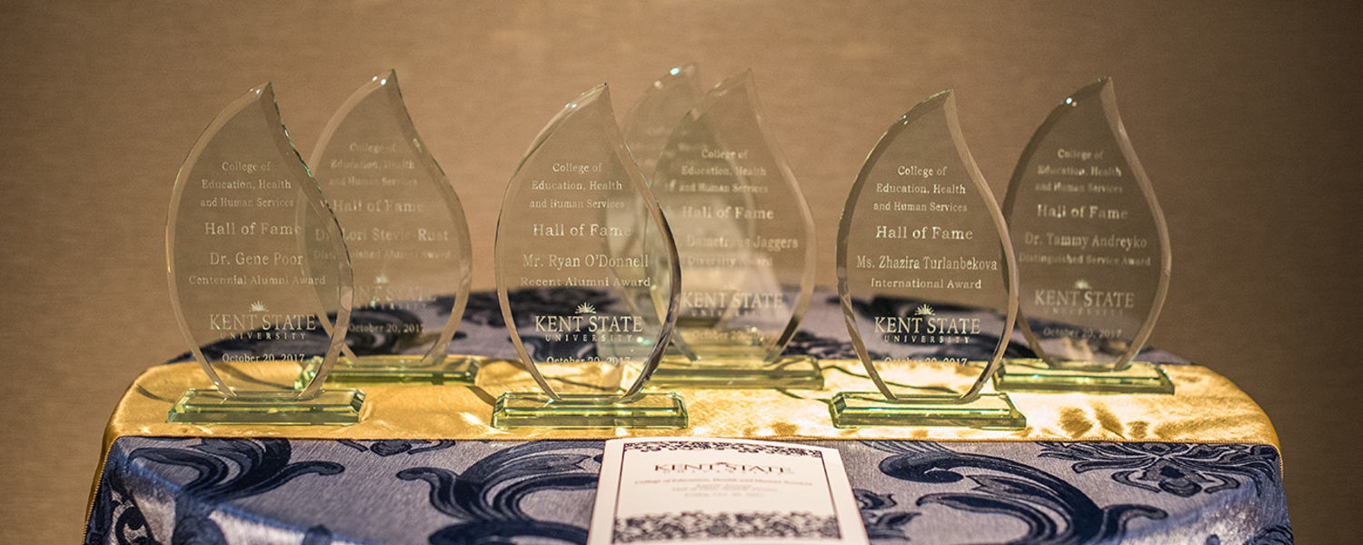 Hall of Fame 2017 Awards on table