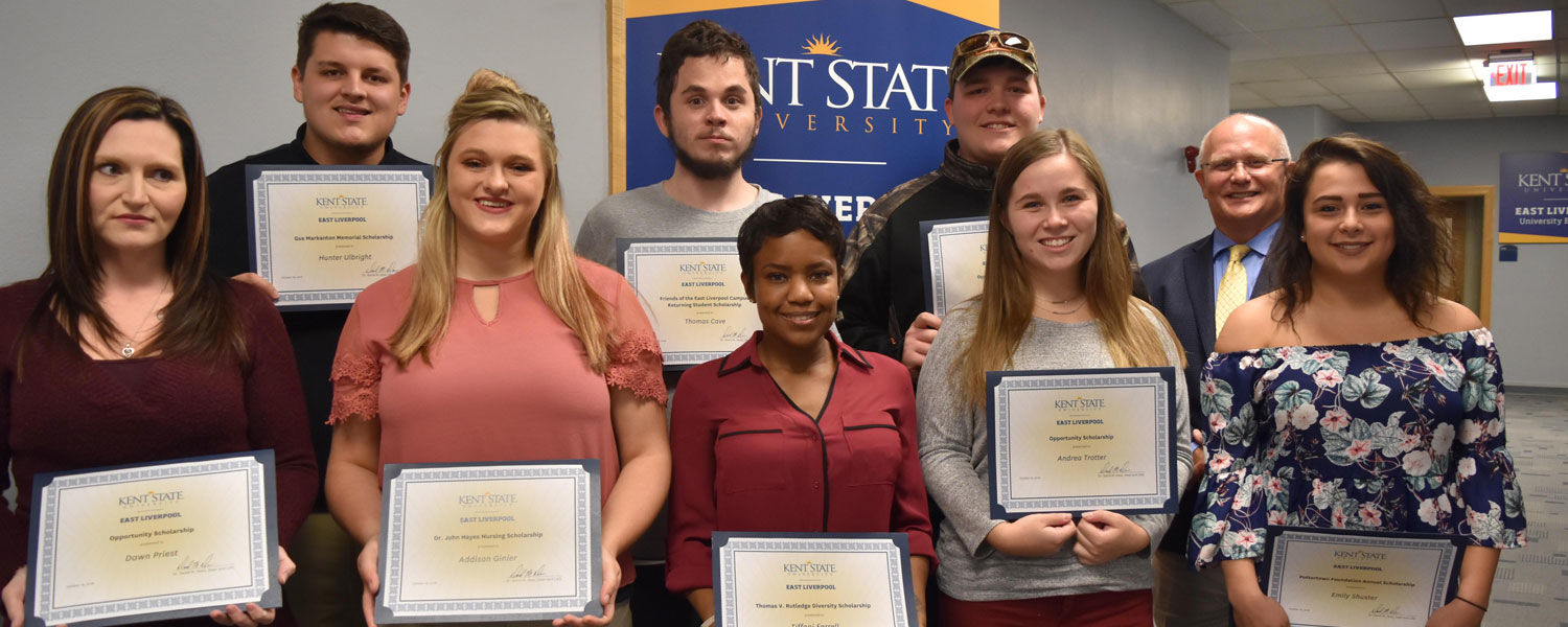Students were recognized at the Kent State East Liverpool scholarship reception