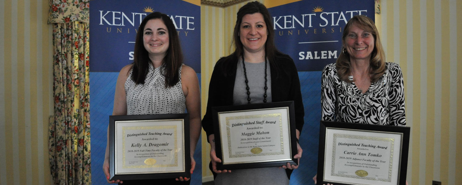 Employees Recognized with the Campus Excellence Awards at Kent State Salem