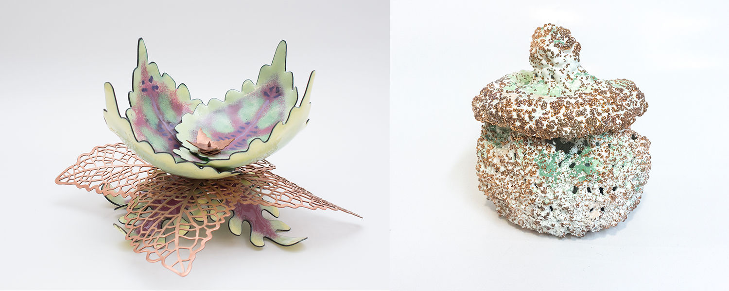 Alyse Hanna and Ashley Smith's work in The Fine Art of Enameling: Revisited
