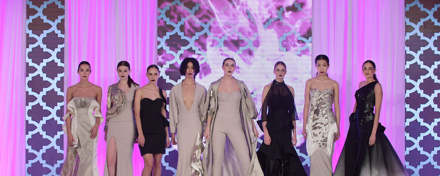 """Julien Remi Nguyen's """"Symbiosis"""" received the Eveningwear Award at the 2017 Annual Fashion Show"""