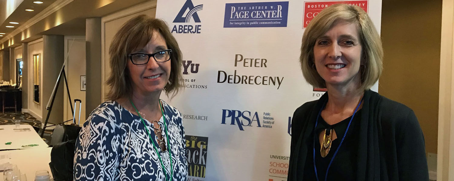 Michele Ewing and Julie O'Neil at IPRRC Conference