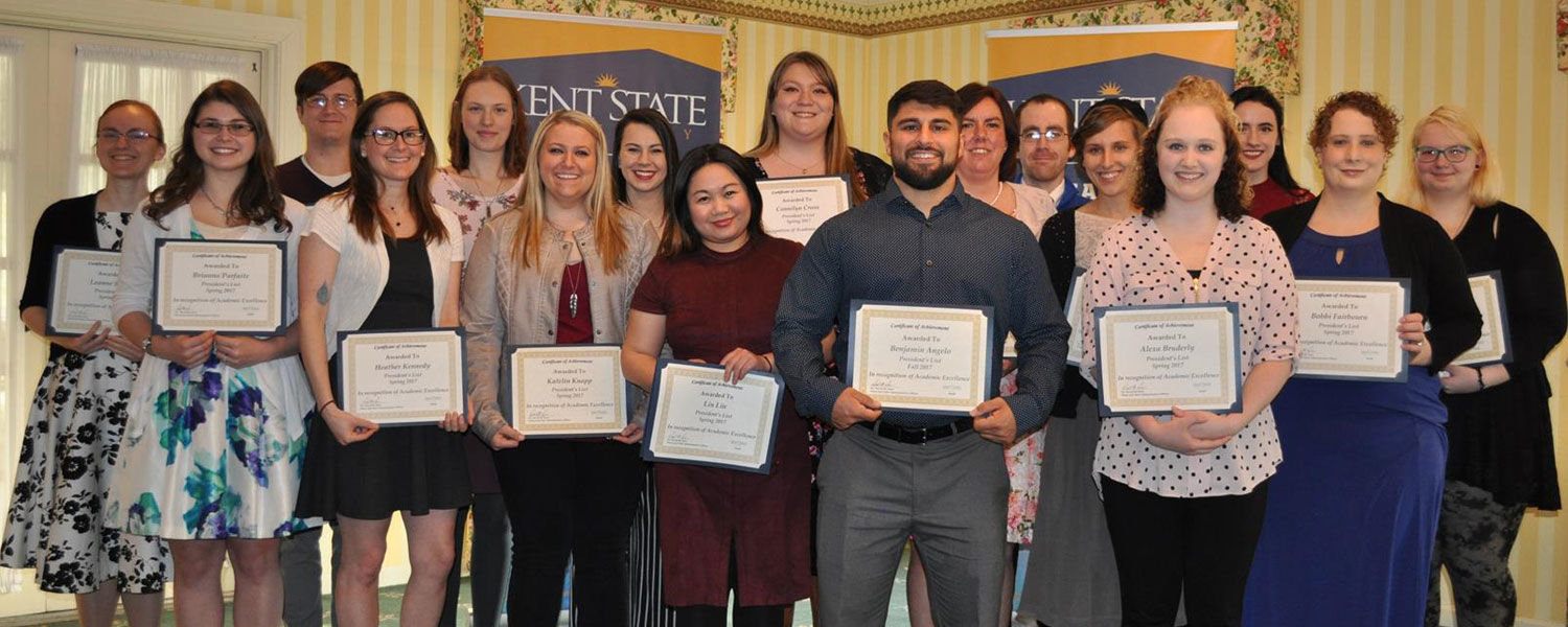 Students on the 2017 President's Lists