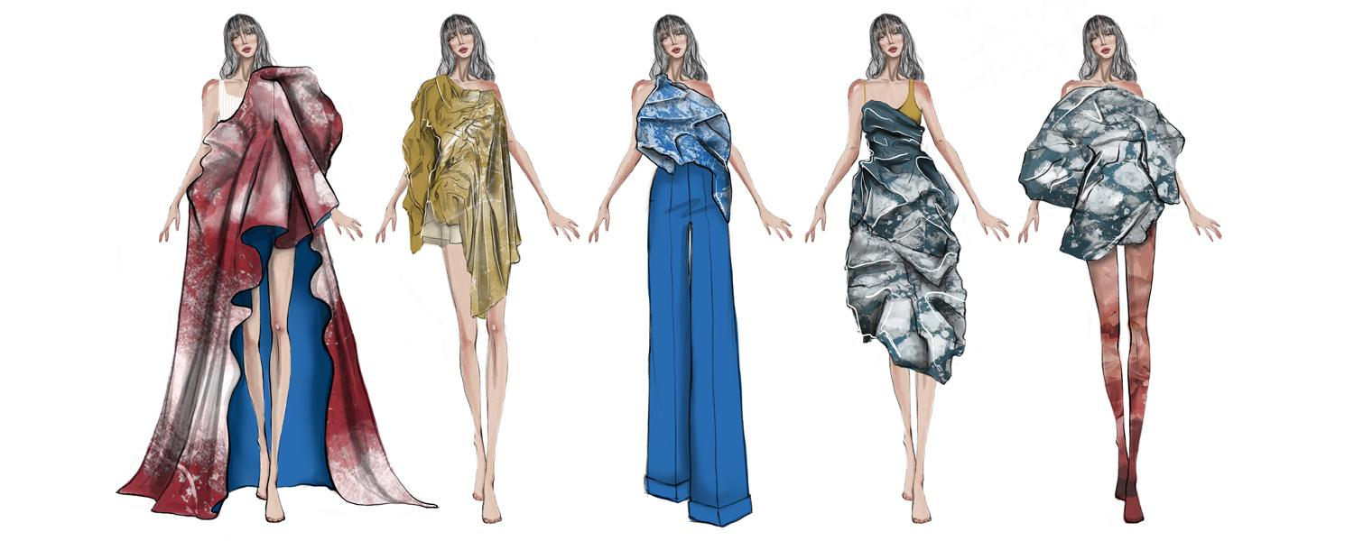 Sketches from Nguyens Supima Collection