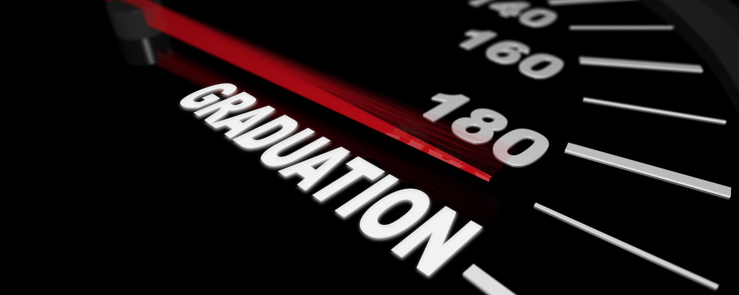 Image of a Speedometer with the needle pointing to the word Graduation