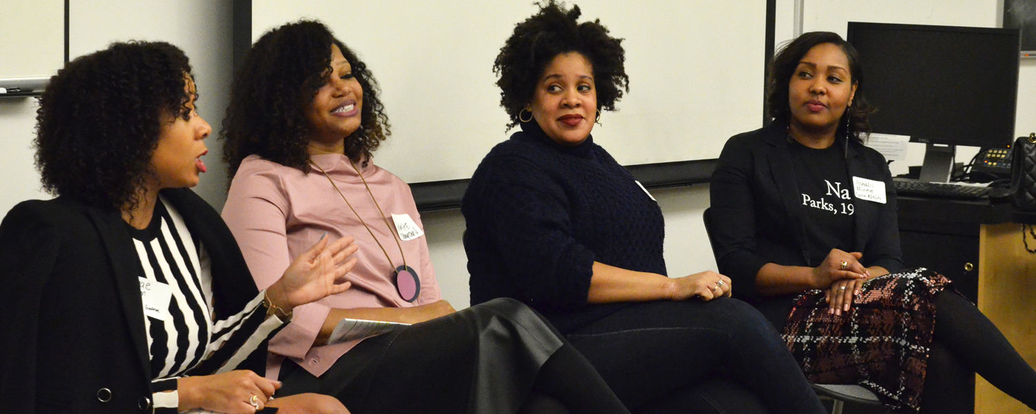 Members of the diversity event panel/