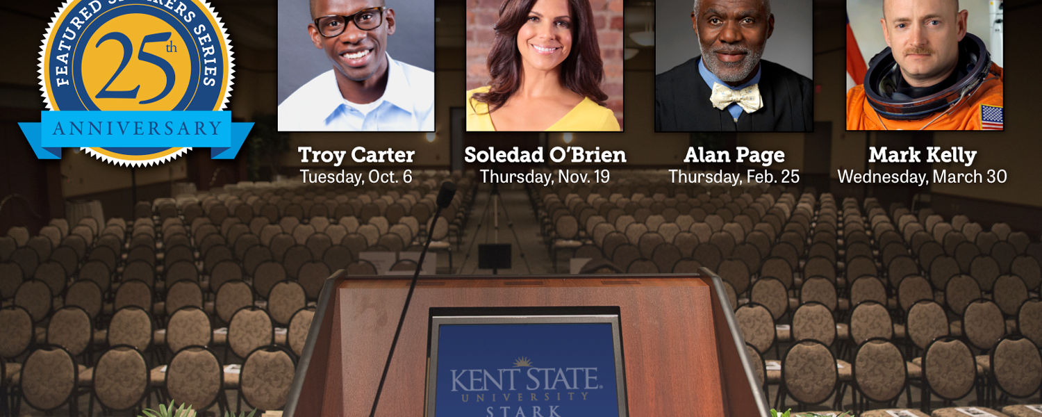 The community is invited to celebrate Kent State University at Stark's silver anniversary season of the Featured Speakers Series with an impressive selection of personalities.
