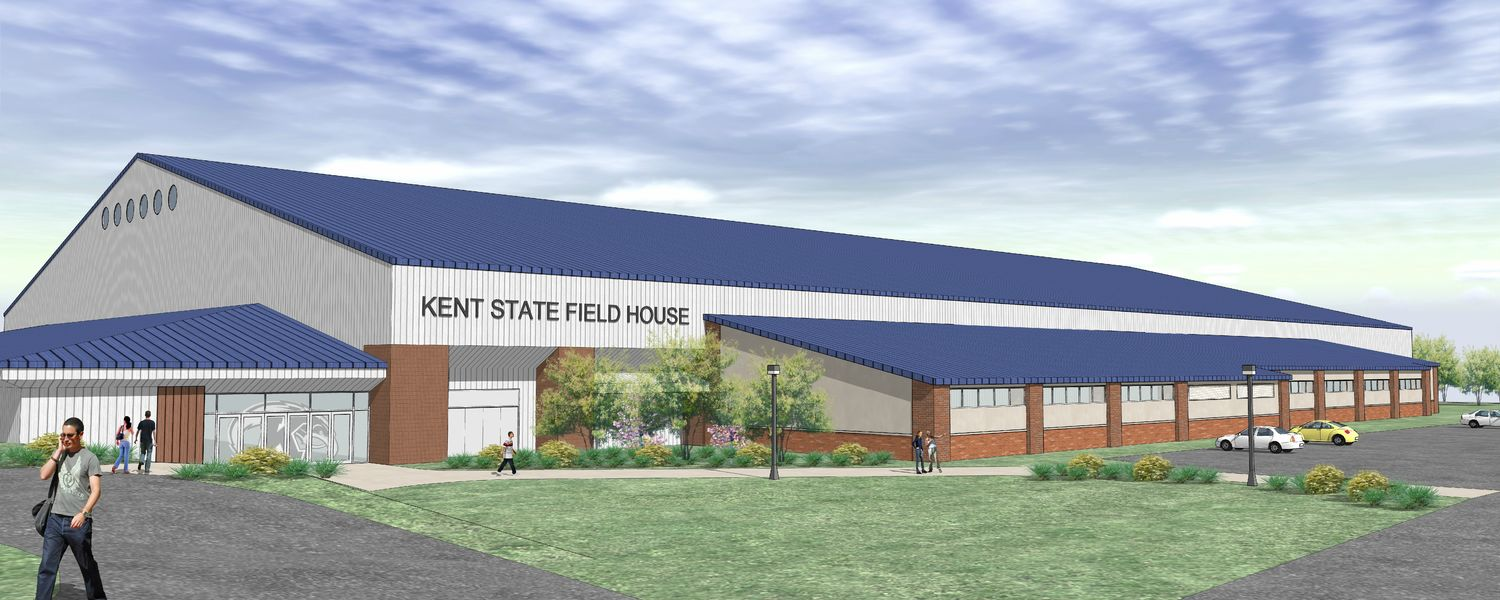 Kent State's new Field House locker room will provide a new facility for soccer, softball, field hockey,  men's and women's track and cross country.(Provided by Design Build Team ofRegency Construction Services  and The Collaborative Inc.)