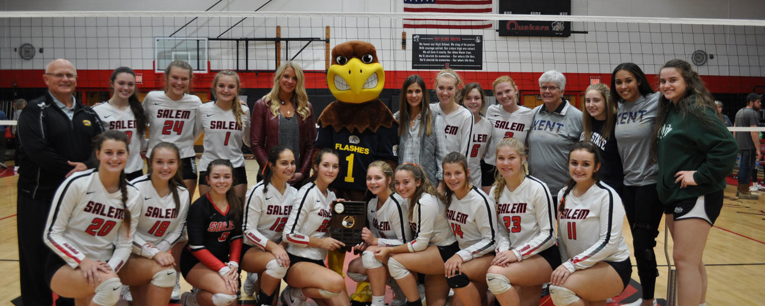 Salem High School Quakers won the first-ever Columbiana County Volleyball Classic by defeating East Liverpool High School.