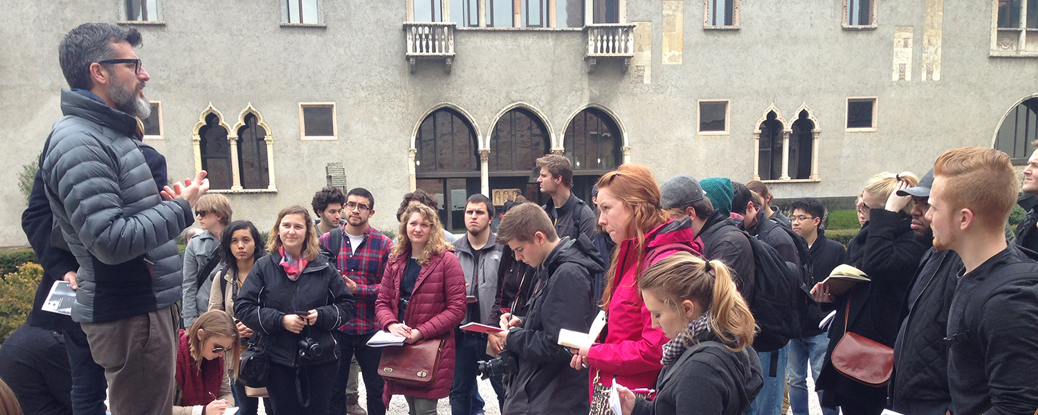 Architecture students study abroad in Florence