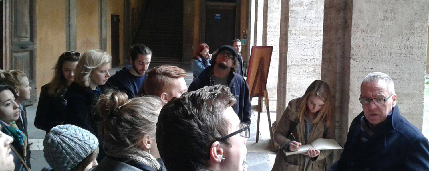 Architecture students study in Florence