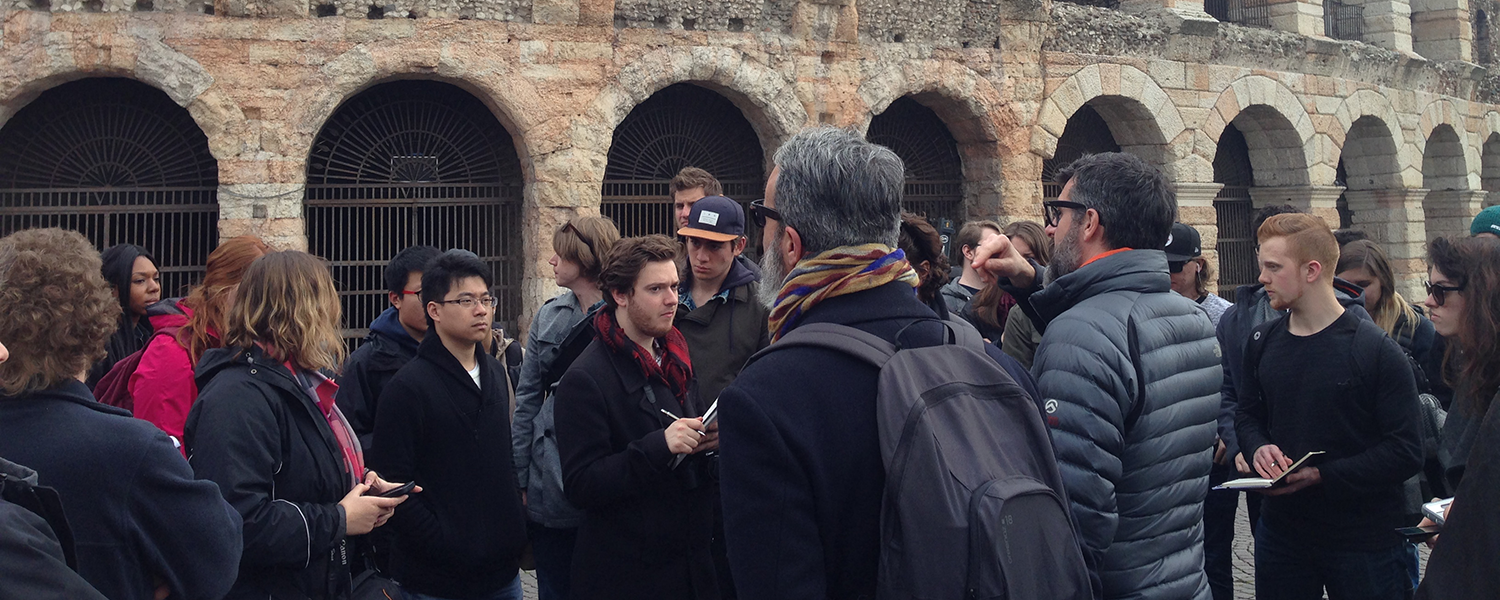 Students visit Colosseum in Rome