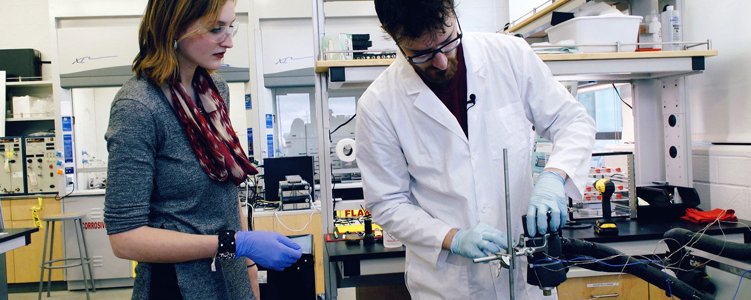 At Kent State University's Energy and Sustainability Lab, researchers are working on ways to help lower our world's dependence on burning fossil fuels.