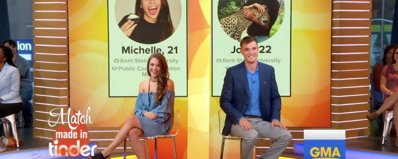 Michelle Arendas and Josh Avsec meet on GMA.