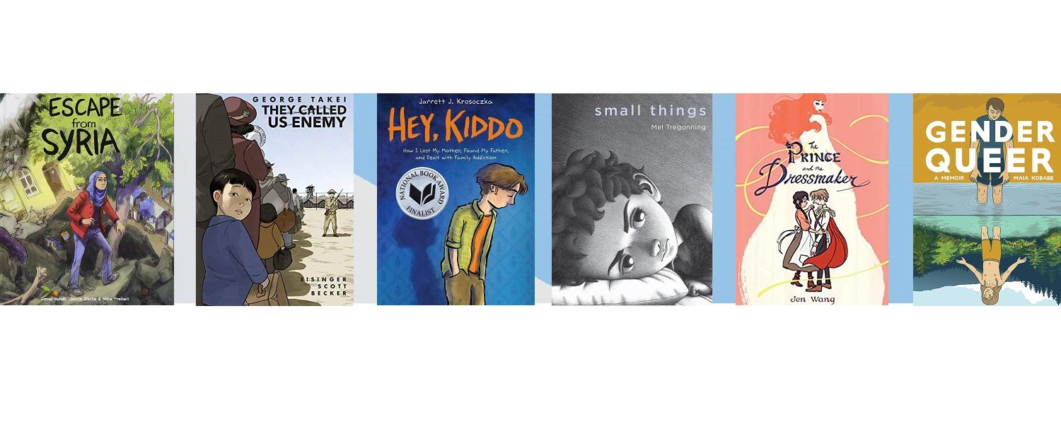 Images of YA titles from Drs. Garrison and Gavigan's website