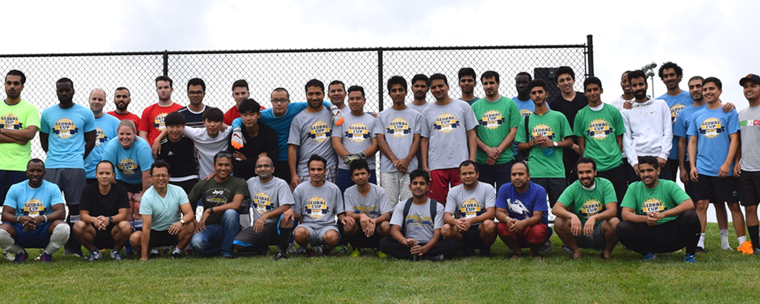 GlobalCup teams gather for a group picture