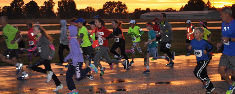 Participants in Glowway Run