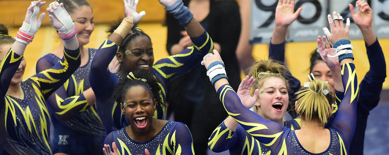 Kent State's gymnastics program is one of five Kent State athletic programs to be recognized by the NCAA with a Public Recognition Award for outstanding academic performance.