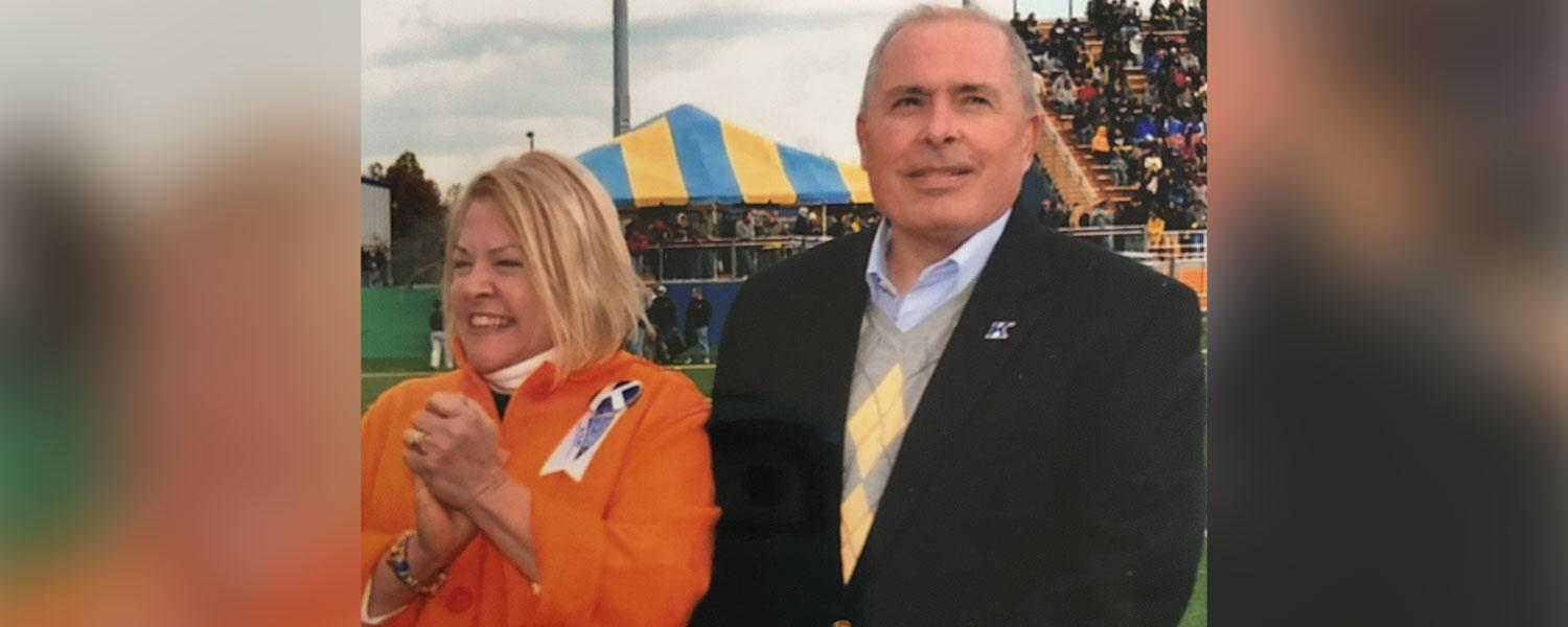 Marilyn Starner (left) stands next to her late husband, Buzz Starner, class of 1967.