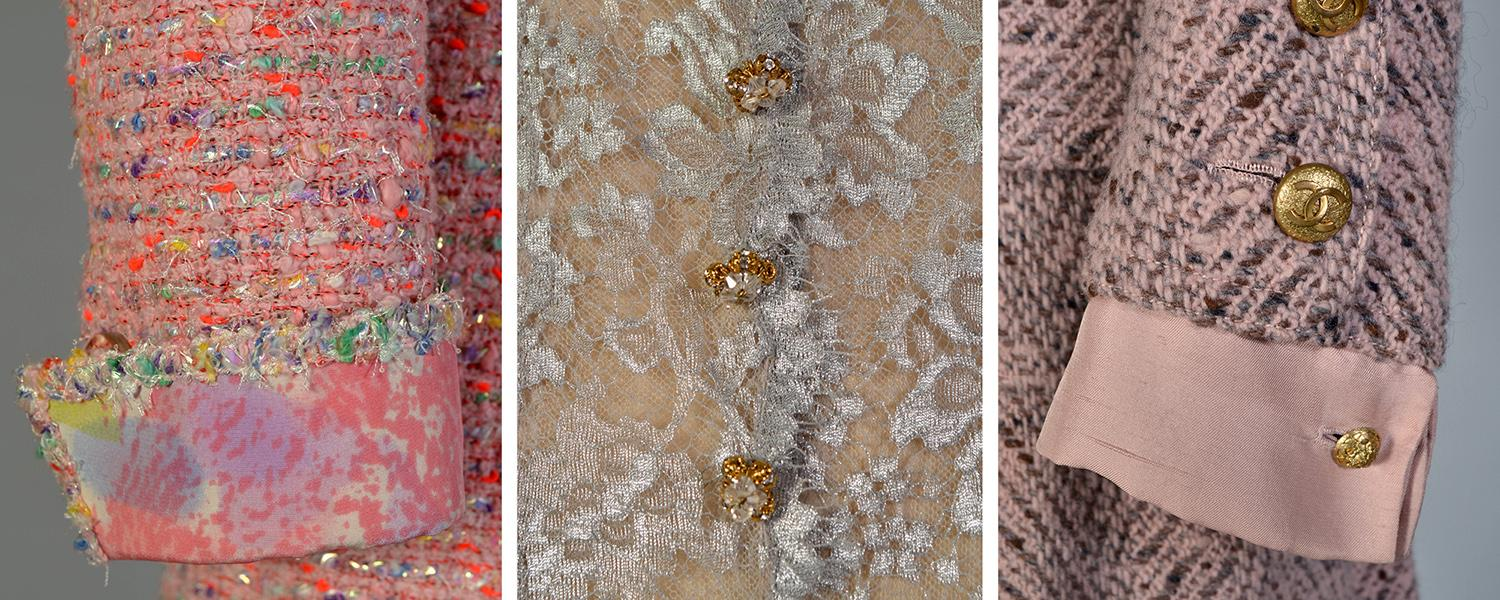 Details of Chanel cuffs and lace