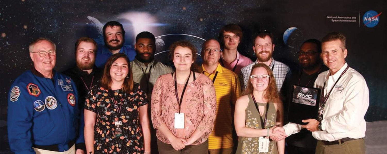 Kent State Robotics Team receives award at NASA's Kennedy Space Center.