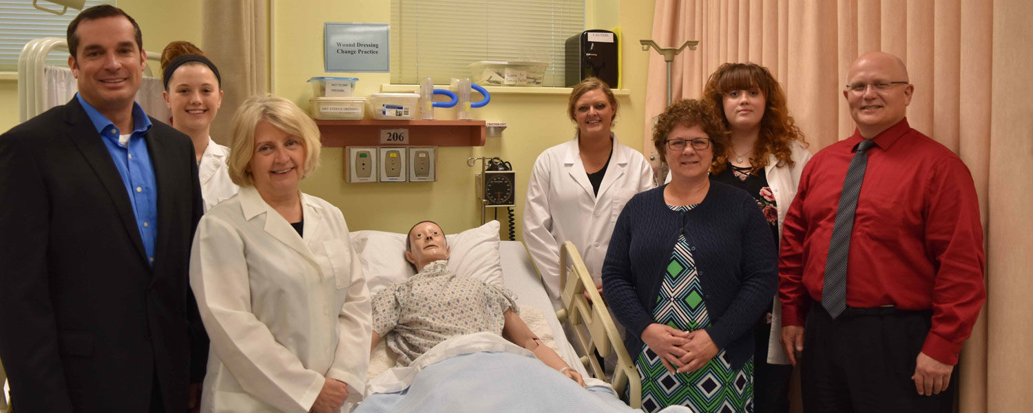 Meeting in the nursing skills lab at Kent State East Liverpool
