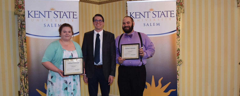 Michelle Santini, James Winter (English faculty) and Jonathon McCann