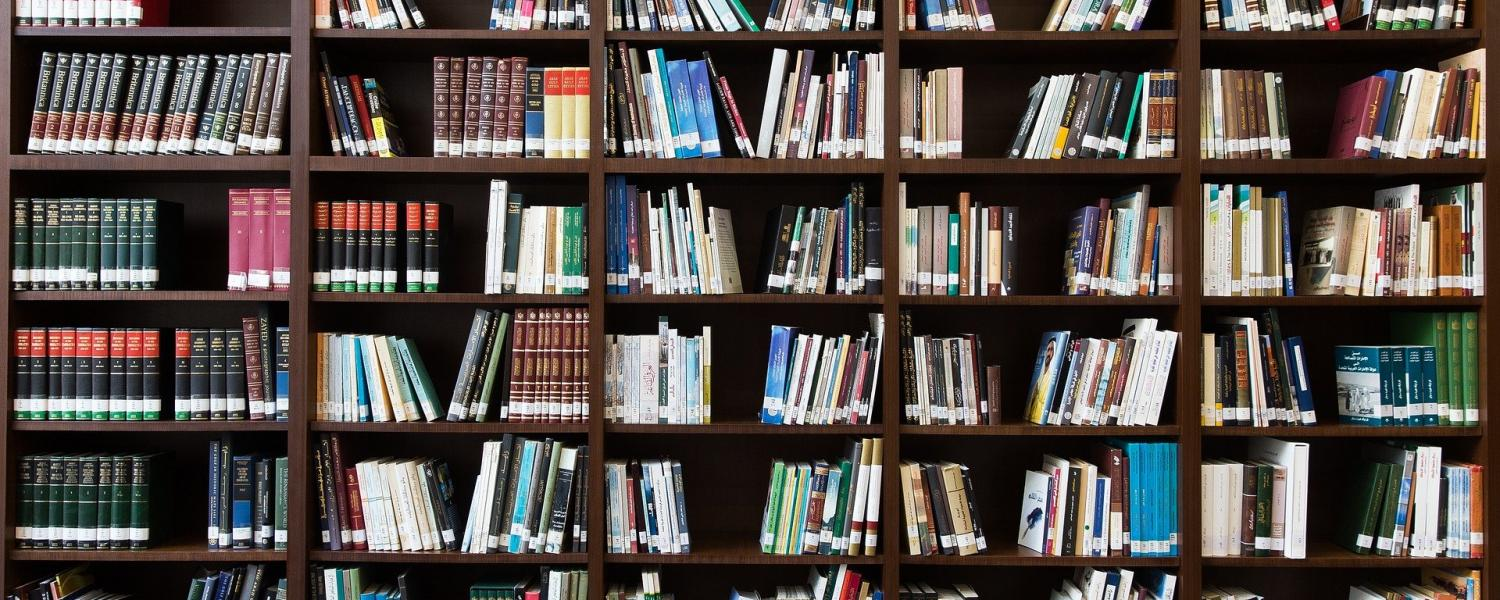 Photo of a filled bookcase