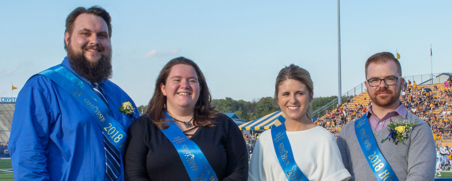 The 2018 Kent State Columbiana County homecoming court