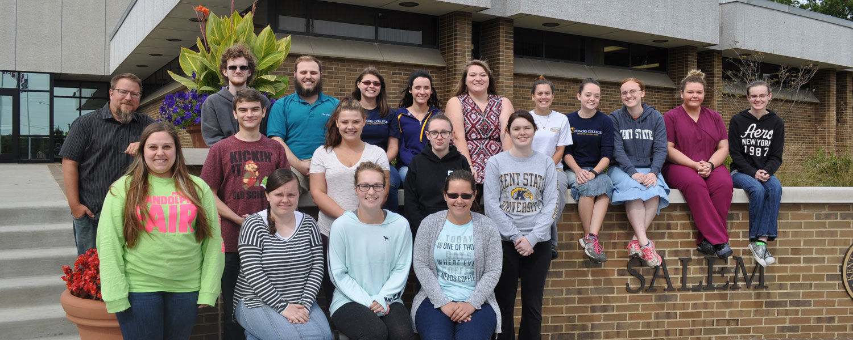Honors Program students Kent State University at Salem 2017-18
