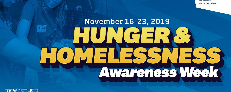 Hunger & Homelessness Awareness Week graphic