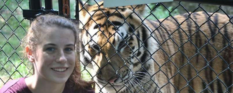 Hirsh posing with tiger